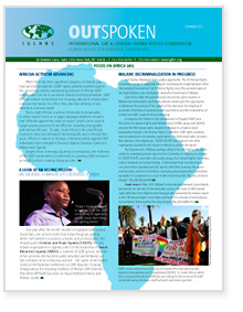 Download Outspoken Newsletter:Summer 2012