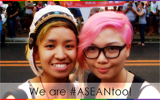 Photo of two women, with the caption, 'We Are ASEAN Too'