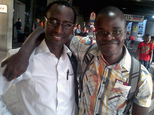 Thomas Ndayiragije, Senior Program Officer for Africa at IGLHRC with Dr. Paul Semugoma