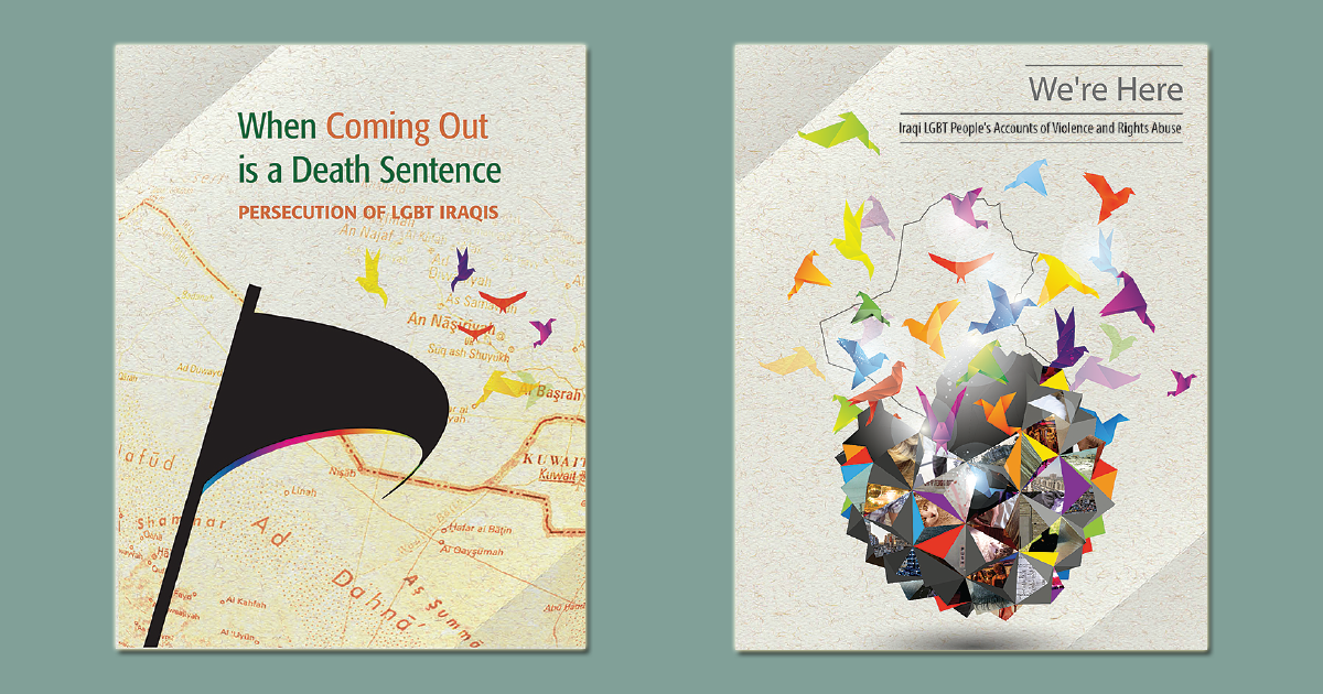 Cover images of two briefings released by OutRight and its partners